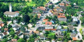 Das Mitteldorf aus der Vogelperspektive